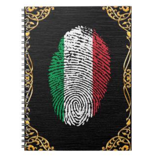Italian touch fingerprint flag notebooks