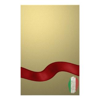 Italian touch fingerprint flag stationery paper