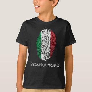 Italian touch fingerprint flag T-Shirt