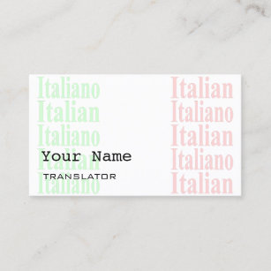 Interpreter business cards zazzle au italian translator or interpreter business cards colourmoves