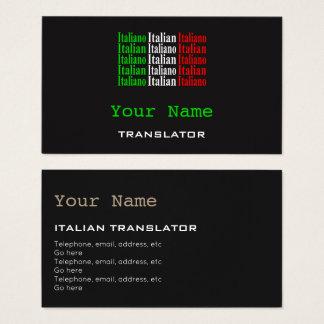 Italian Translator or Interpreter Business Cards