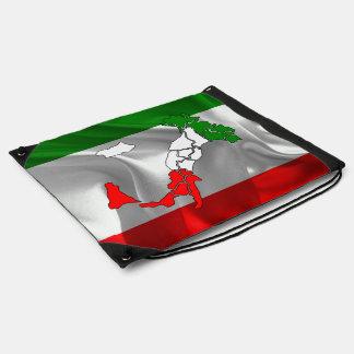Italian Tricolor boot Drawstring Bag