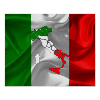 Italian Tricolor Poster