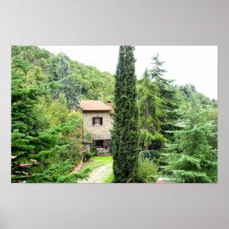 Italian tuscan rustic farmhouse. Tuscany. Poster