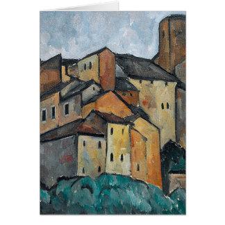 Italian Villiage Painting of Homes Blank Card