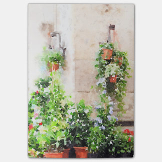 Italian Watercolor Flower Market Post-it Notes