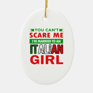 Italian Wife Wife Ceramic Oval Decoration