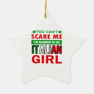 Italian Wife Wife Ceramic Star Decoration
