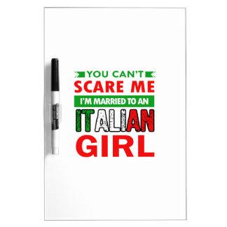 Italian Wife Wife Dry Erase Board
