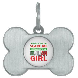 Italian Wife Wife Pet ID Tag