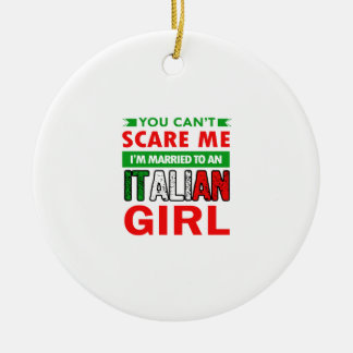 Italian Wife Wife Round Ceramic Decoration