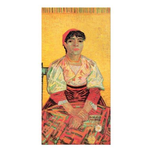 Italian Woman Agostina Segatori by van Gogh Custom Photo Card