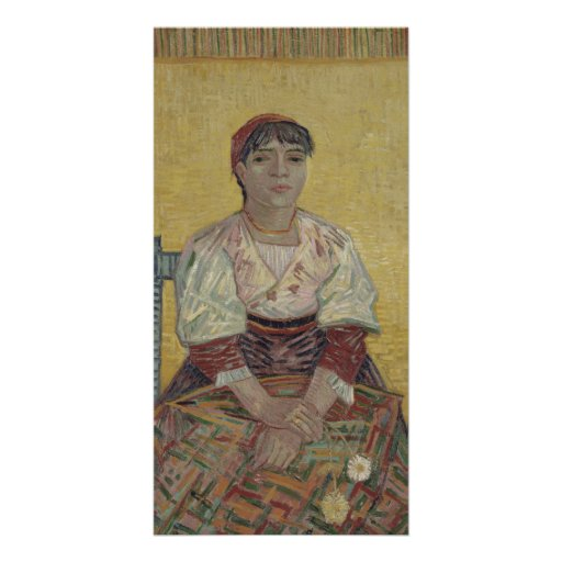 Italian Woman by Vincent Van Gogh Customized Photo Card