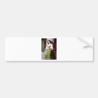 Italian Woman Painting Bumper Stickers