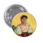 Italian Woman portrait painting  Vincent van Gogh Button