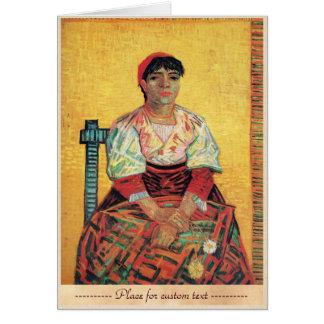 Italian Woman portrait painting  Vincent van Gogh Card