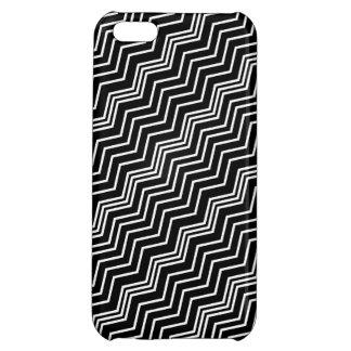 Italian Zig Zag Diagonal Black White Savvy iPhone 5C Cover