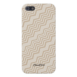 Italian Zig Zag Diagonal Brown White Savvy Cases For iPhone 5