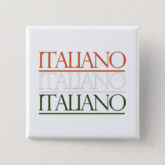 Italiano 15 Cm Square Badge