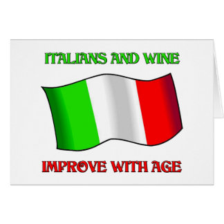 Italians And Wine, Improve With Age Card