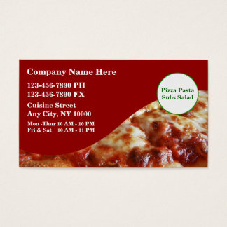 Italine Restaurant Business Cards