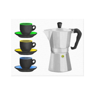 Italion Espresso Maker Coffe Lovers Design Canvas Print