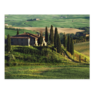 Italy A pastoral Tuscany villa in Val d Orcia Post Card