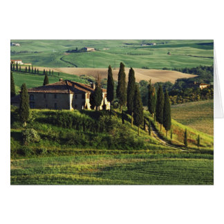 Italy. A pastoral Tuscany villa in Val d'Orcia. Greeting Card