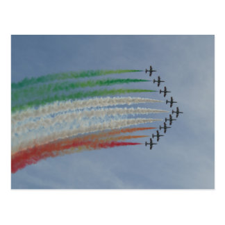 Italy AirForce Frecce Tricolori Italian Flag Postcard