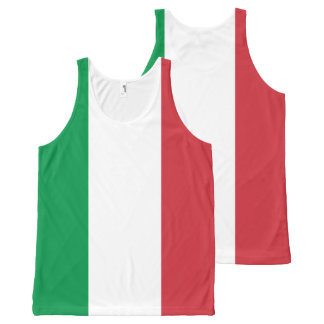 Italy All-Over Printed Unisex Tank. All-Over Print Singlet