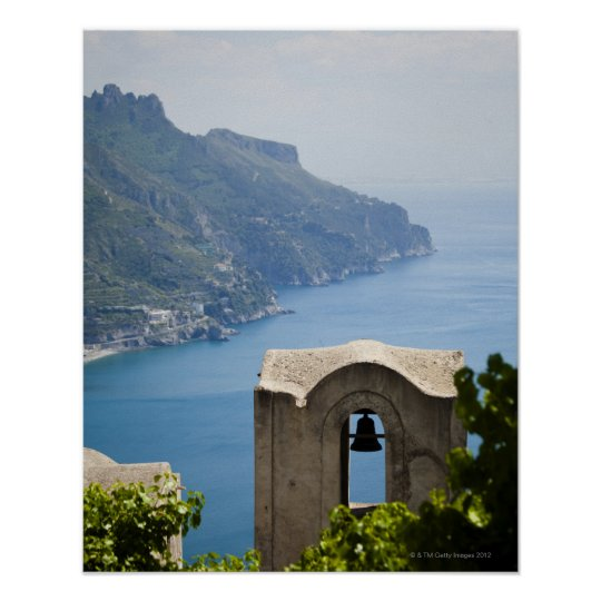 Italy, Amalfi Coast, Ravello, Bell tower with Poster