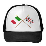 Italy and Sardegna crossed flags Cap