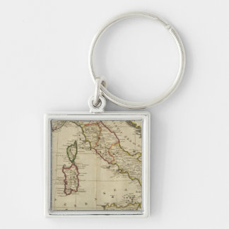 Italy, and Sardinia Silver-Colored Square Key Ring
