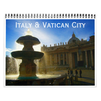 italy and vatican city 2018 wall calendars