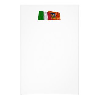 Italy and Veneto waving flags Customised Stationery