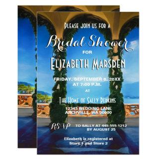 Italy Arches Elegant Bridal Shower Invitation
