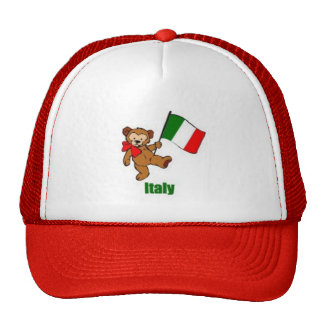 Italy Bear Red Hat