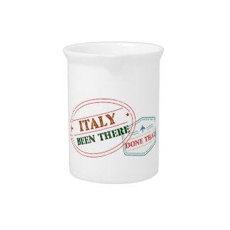 Italy Been There Done That Pitcher