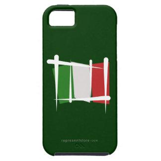Italy Brush Flag iPhone 5 Cases