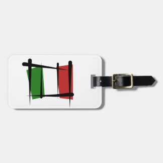 Italy Brush Flag Tags For Bags