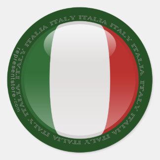 Italy Bubble Flag Classic Round Sticker