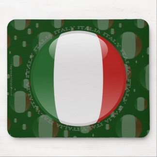Italy Bubble Flag Mouse Pad
