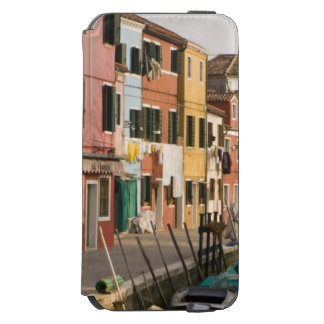 Italy, Burano. Colorful houses of line a Incipio Watson™ iPhone 6 Wallet Case