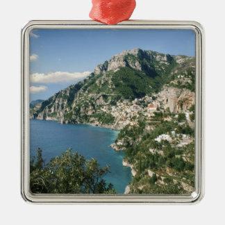 Italy, Campania, Sorrentine Peninsula, Positano, Silver-Colored Square Decoration