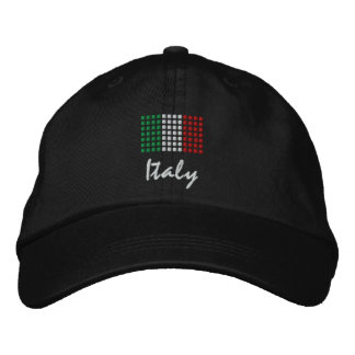 Italy Cap - Italian Flag Hat Embroidered Hat