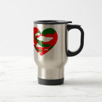 Italy Christmas Camo Heart Travel Mug