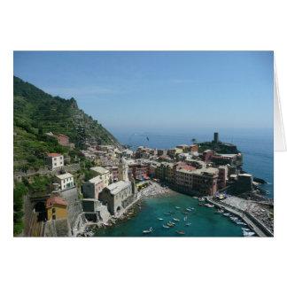 Italy, Cinque Terre, Italian Riviera, Vernazza Greeting Card