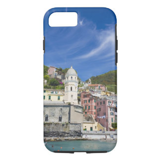 Italy, Cinque Terre, Vernazza, Harbor and Church iPhone 7 Case