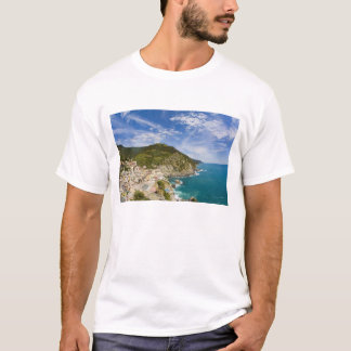 Italy, Cinque Terre, Vernazza, Hillside Town of 2 T-Shirt
