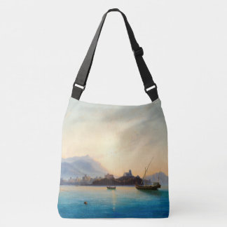 Italy Coast Ocean Fishing Boats Shoulder Tote Bag